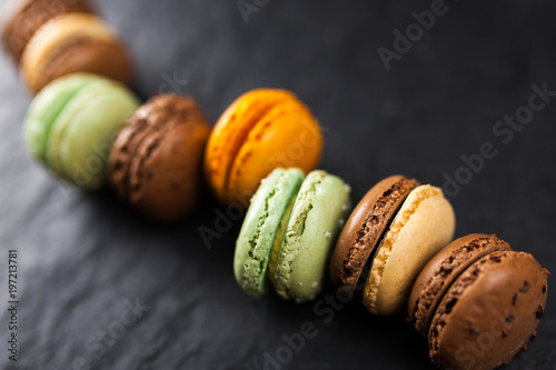 Assortment of macaron cookies - 197213781