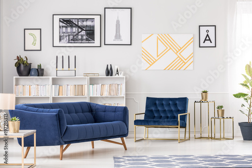 Foto Murales Art collection and sofa