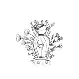 Fashion sketch of perfume bottle - 197218158