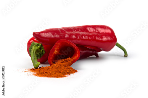 Fotobehang Hot chili peppers paprika spice 3