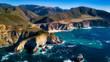 Big Sur Coastline from Drone - 197219989
