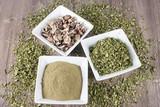 Seeds, leaves and moringa powder - Moringa oleifera - 197219940