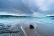 afternoon of clouds on the beach of Arnao