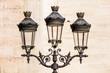 Vintage street lantern (lamppost) in front of Notre-Dame de Paris. Paris. France