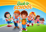 back to school with kids