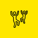 Dancing people icon - 197243373