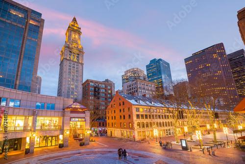 Foto Murales Outdoor market in the historic area of Boston, Massachusetts