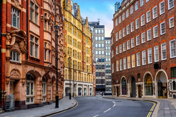 Historical buildings in London city center, England, UK © Boris Stroujko