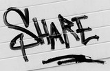 Share symbol street art