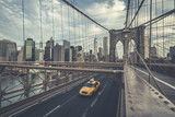 Famous Brooklyn Bridge with cab - 197253152