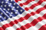 American flag background, 3D rendering - 197274701