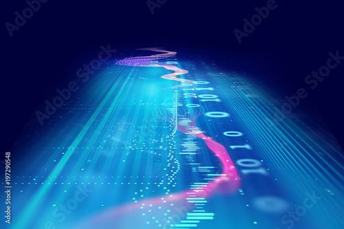 Foto op Plexiglas Abstract wave Audio waveform abstract technology background