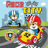 racing car cartoon vector art