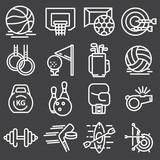 Sports set icons. Flat vector illustration