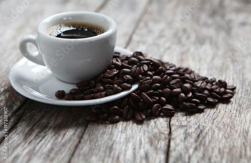In de dag Koffiebonen grains de café arabica