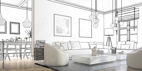 Dostosowanie do pomieszczeń: salon (planowanie panoramiczne)