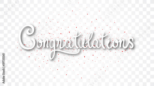 congratulations banner isolated on transparent background buy