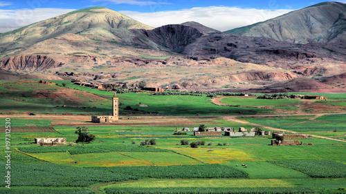 Foto op Plexiglas Marokko Landscape in the plains of Fez in Morocco
