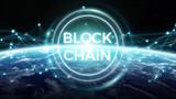 Blockchain on planet Earth 3D rendering - 197314134