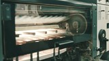 Professional printing machine in work at polygraph industry - 197315300