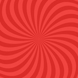 Red abstract spiral ray pattern background - vector design - 197320922