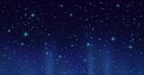 Dark sky with shining stars. Vector night sky background