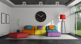 Colorful living room - 197325924