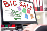 Big sale concept on a computer screen - 197330586