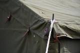 Green military tent detail shot - 197331399