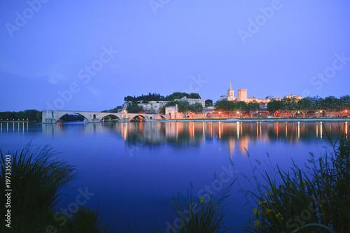 Foto Murales River Rhone  Pont St Benezet  Avignon  Vaucluse  Provence-Alpes Cote D Azur France