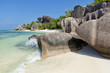 Quadro Anse Source d'Argent - granite rocks at beautiful beach on tropical island La Digue in Seychelles