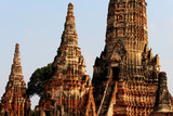 Beautiful Ayutthaya temples in Thailand. - 197342993