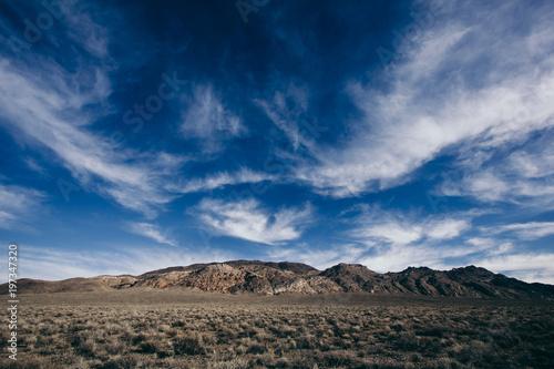 Fotobehang Nachtblauw Mountains in Death VAlley