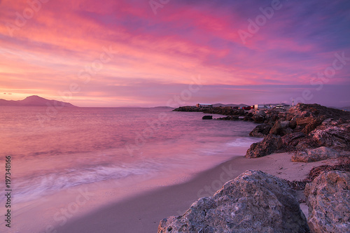 Aluminium seaside and coast view during the sunset