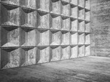 Abstract empty concrete room interior 3d