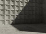 Abstract empty concrete room interior