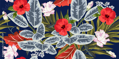 tropikalny-kwiatowy-wzor-z-lisci-palmy