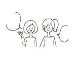 会話を楽しむ女性 - 197354593