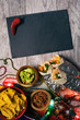 Fiesta: Chile Pepper Next To Blank Slate For Mexican Party