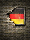 Old Germany flag in brick wall - 197363313