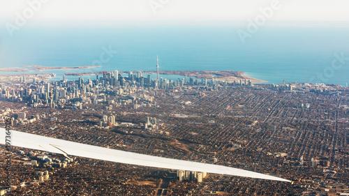 Foto op Aluminium Toronto Aerial view of Toronto city