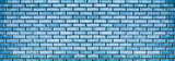 Grunge blue brick wall texture