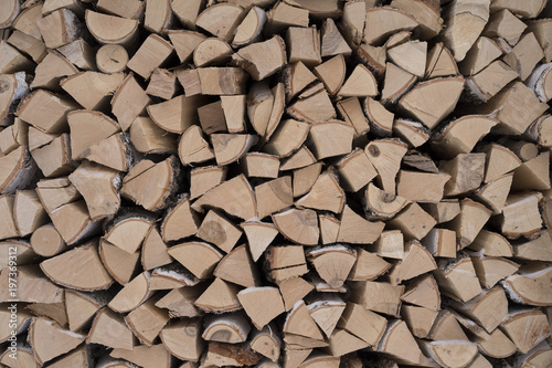 Foto op Aluminium Brandhout textuur firewood texture abstract