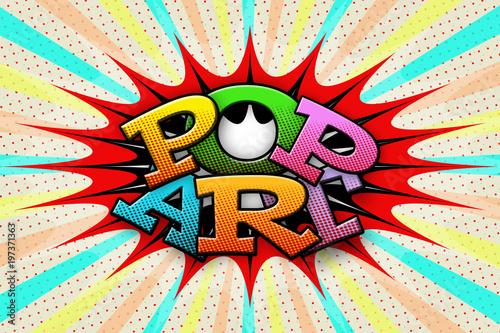 Fotobehang Pop Art Inscription