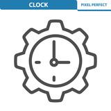 Clock Icon. EPS 8 format.