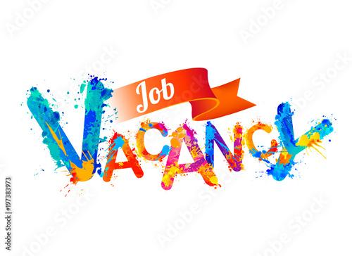 Job vacancy. VSplash paint letters