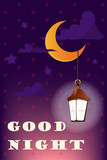 good night and sweet dreams illustration vector design - 197387523