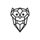 owl logo logotype theme vector