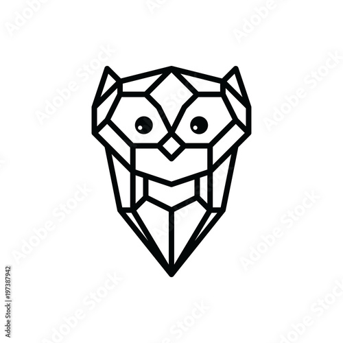 Foto op Plexiglas Uilen cartoon owl logo logotype theme vector