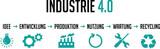 Grafik Industrie 4.0 Ablauf Produktionsprozess - 197409374
